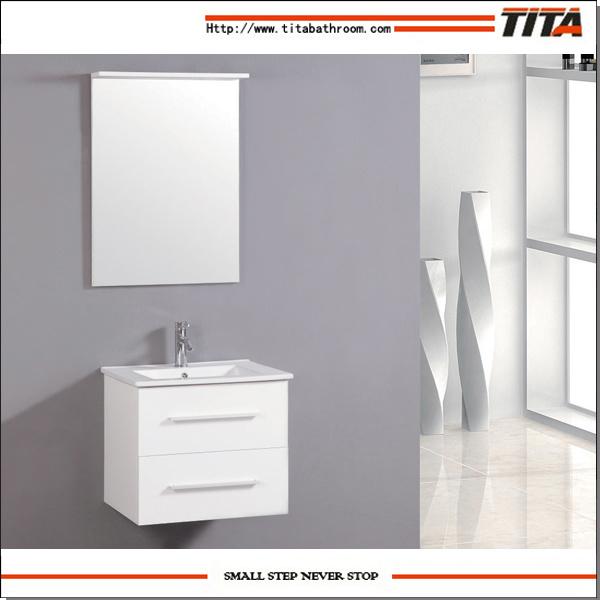 China High Gloss White Bathroom Corner Vanity Cabinet Tm8008