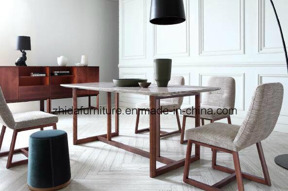 China Italian Design Home Furniture Nature Marble Wood Dinner Table   China Dinner  Table, Furniture
