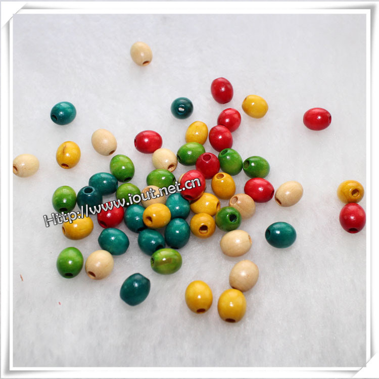 Oval Wooden Beads on Sale for Bracelet / Necklace (IO-wa040)