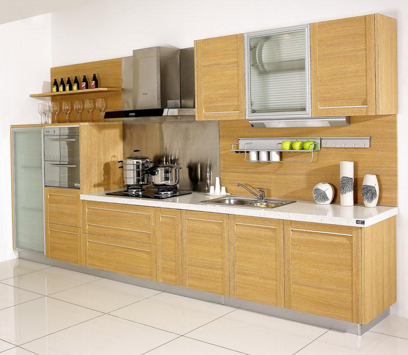 China Modern E1 Grade PVC Kitchen Cabinet (SPTP-001