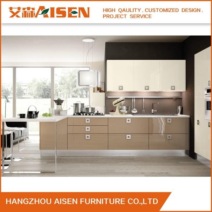 2018 New Design Modern Melamine Kitchen Cabinet