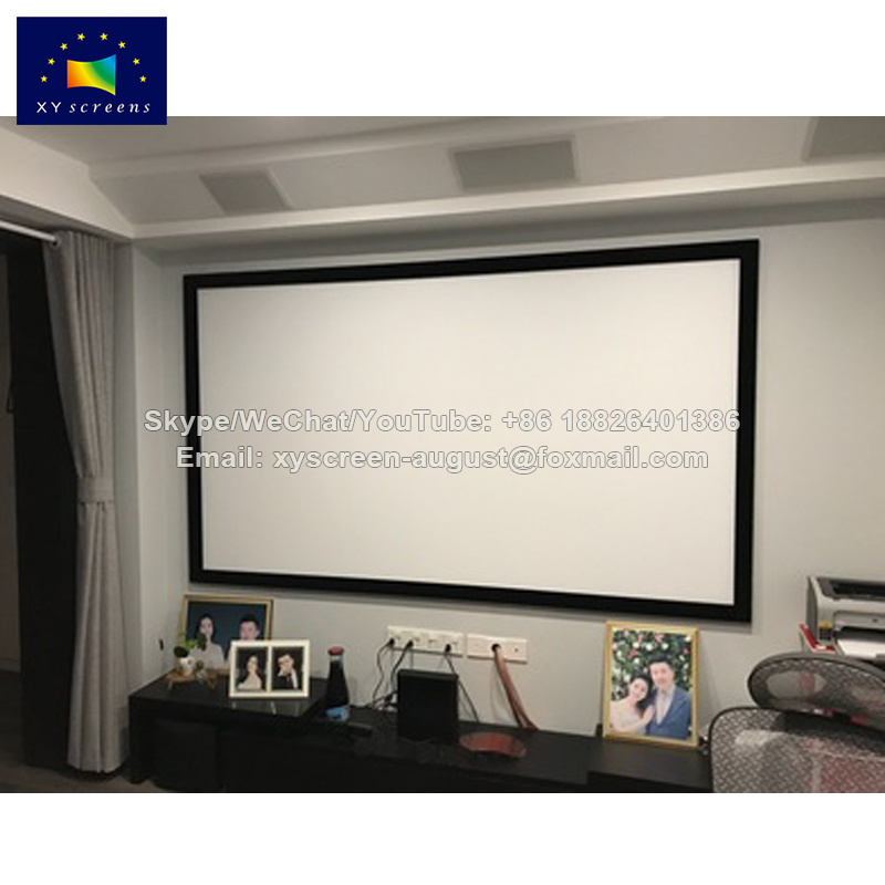 China Xyscreen 90 Office Equipment Wall Mounting Flat Frame Projector Screen
