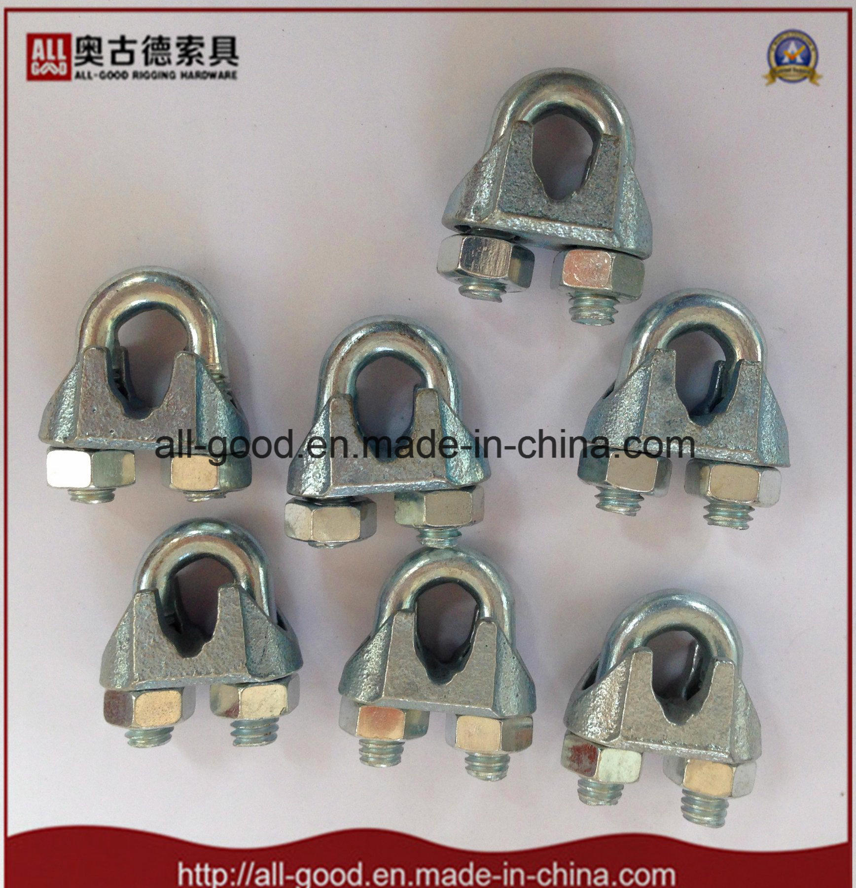 China Rigging Hardware Us Type Malleable Wire Rope Clips - China ...