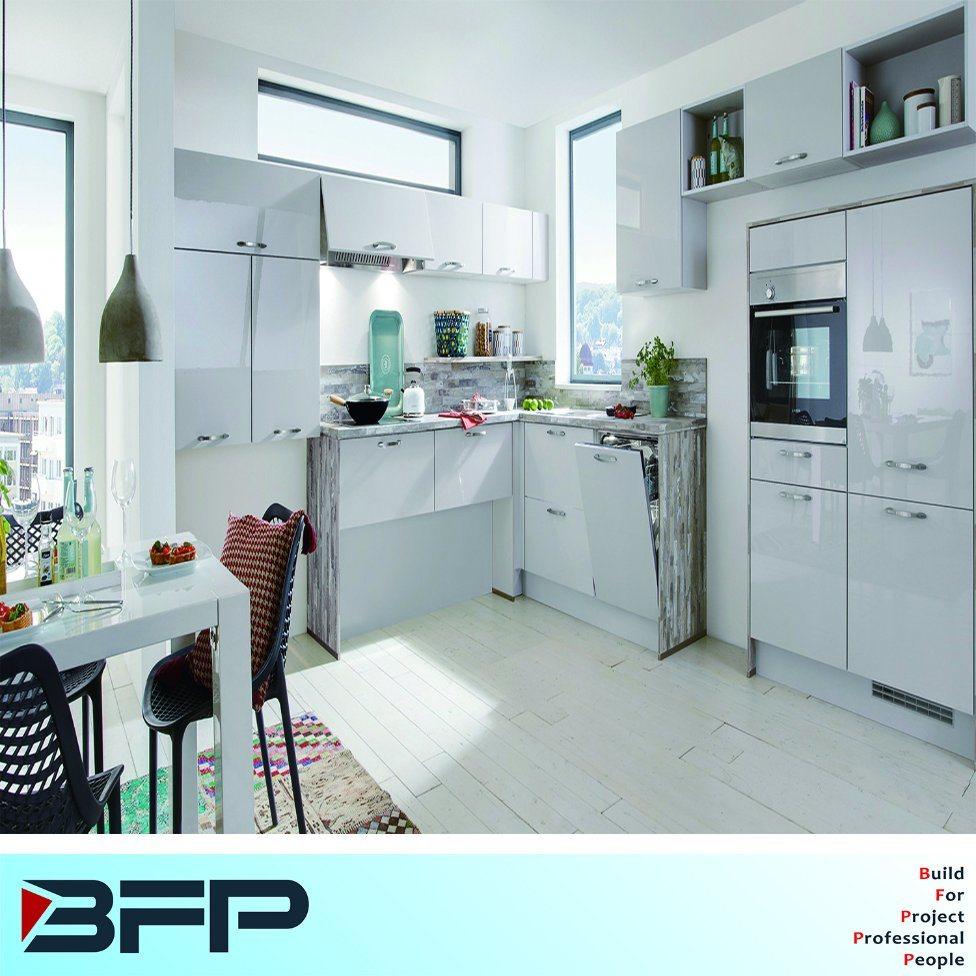 China European Style Wood Kitchen Fuiniture Lacquer Laminate Modular ...