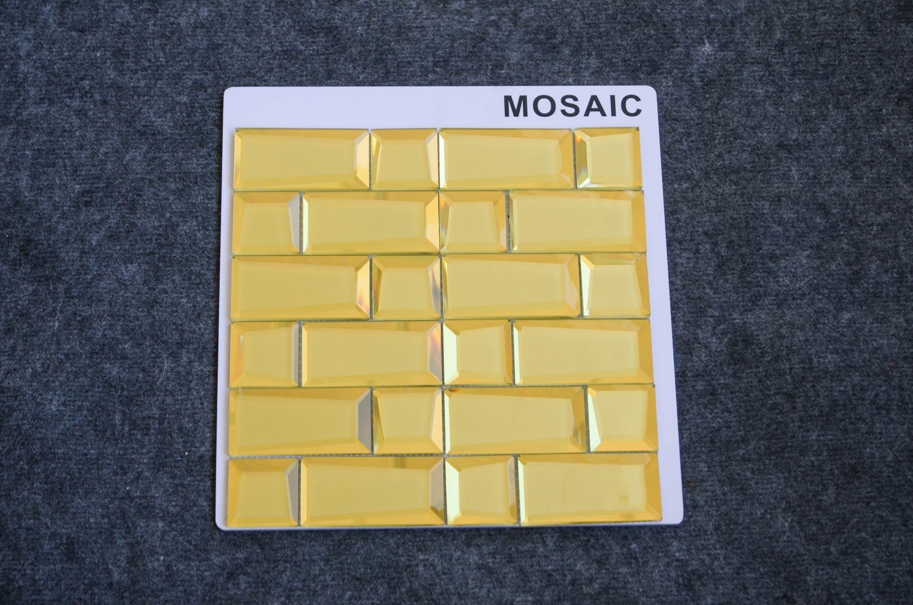 China Artistic Wall Tiles Gold Line Long Strip Template Glass Mosaic ...