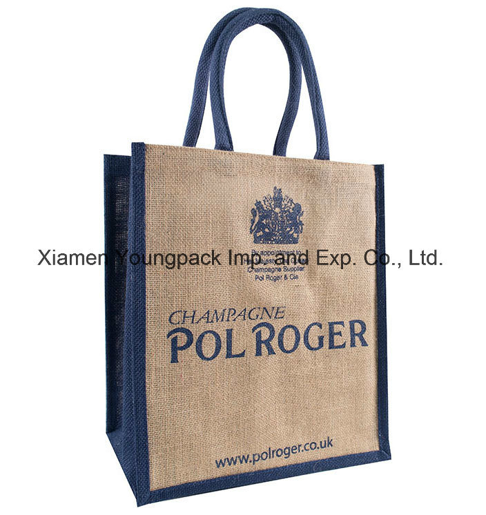 China Whole Custom Printed Promotional Eco Friendly Reusable Plain Tote Juco Bags