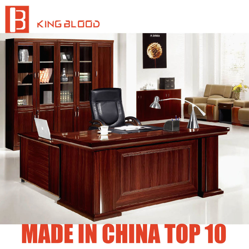 Hot Item Modern Design Luxury Office Desk Boss Table Wooden Office Furniture