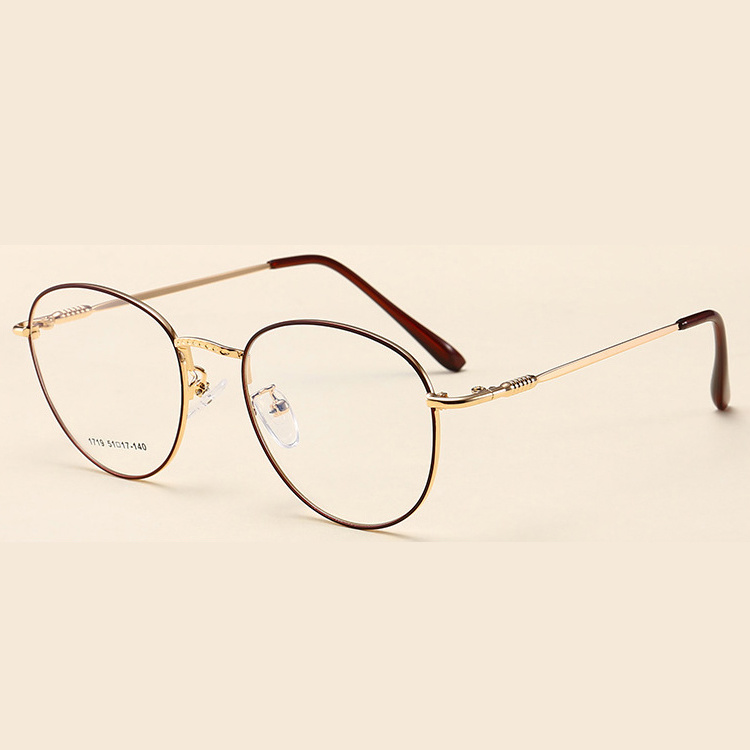 China Vintage Metal Optical Frames Wholesale New Round Shape Glasses ...