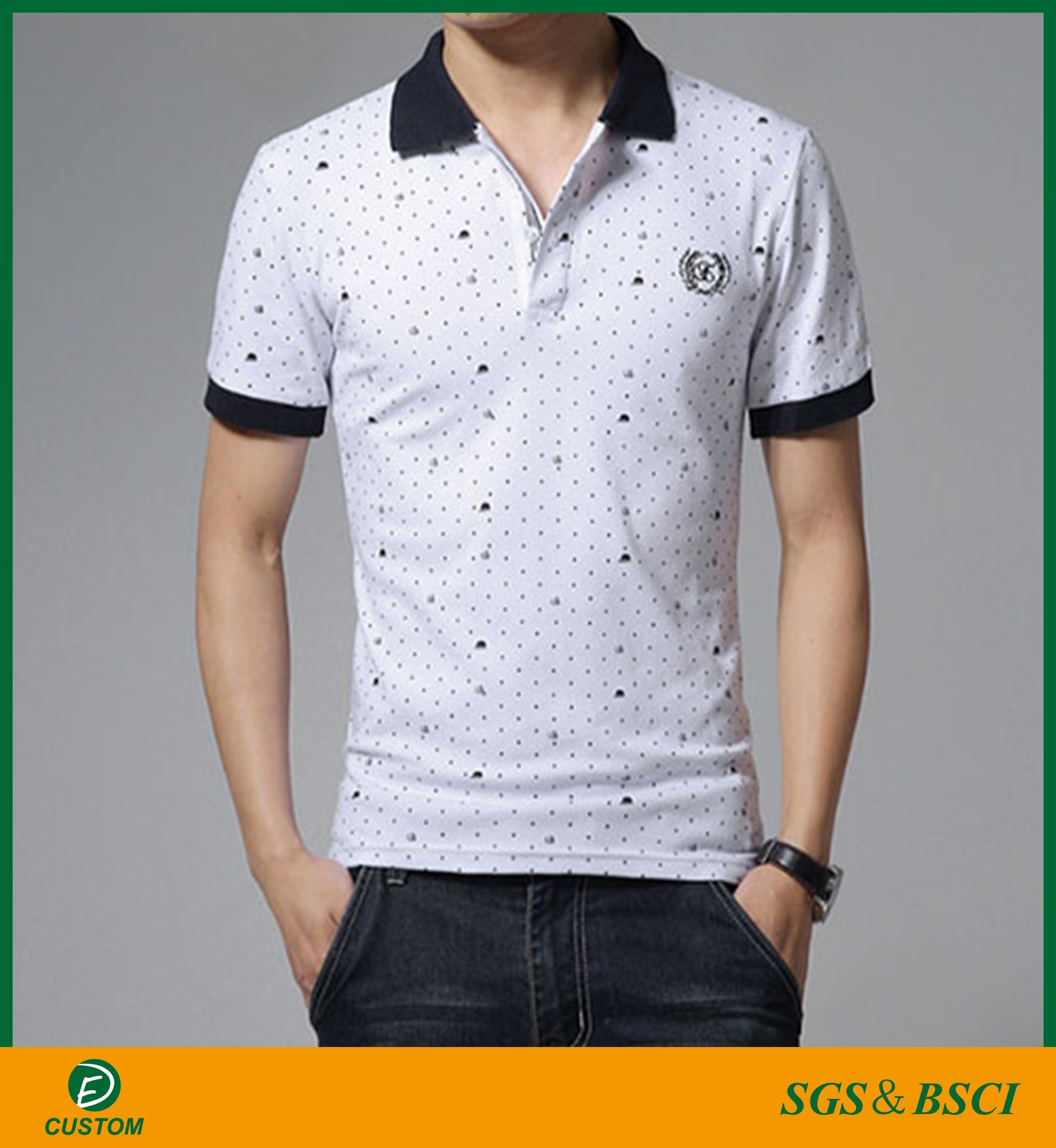 China New Design Full Silk Screen Printing Polo T Shirts With Best