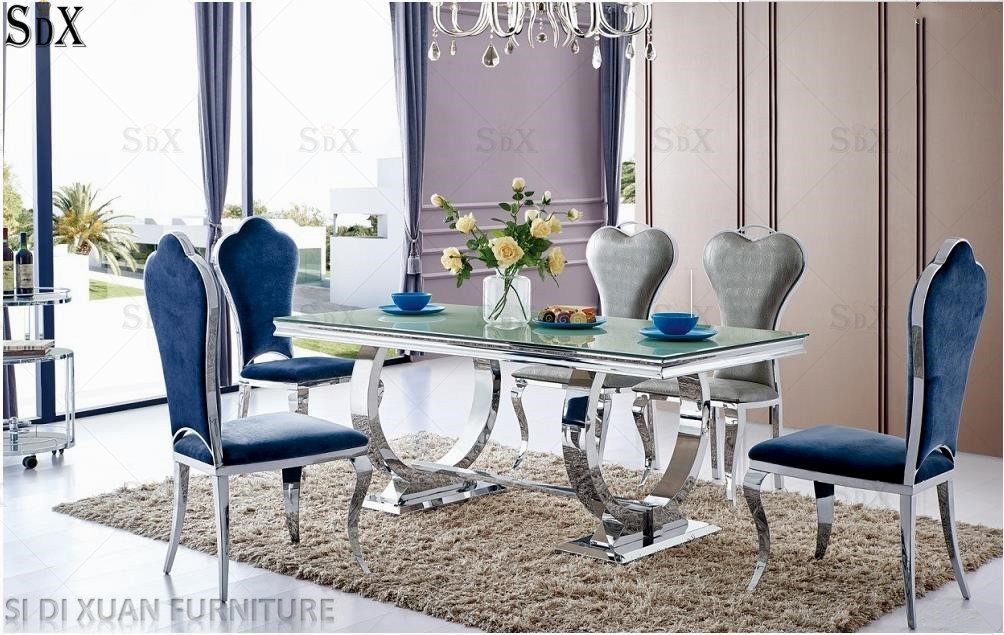 China Modern Glass Dining Furniture, Glass Dining Room Table And Chairs