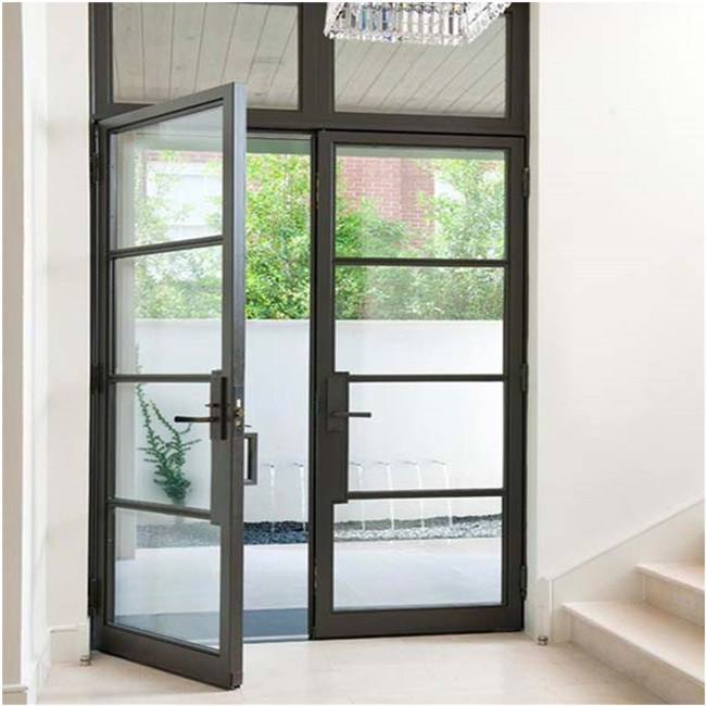 China Factory Price Low E Glass Exterior Door Aluminum Double Swing French Door Photos Pictures Made In China Com