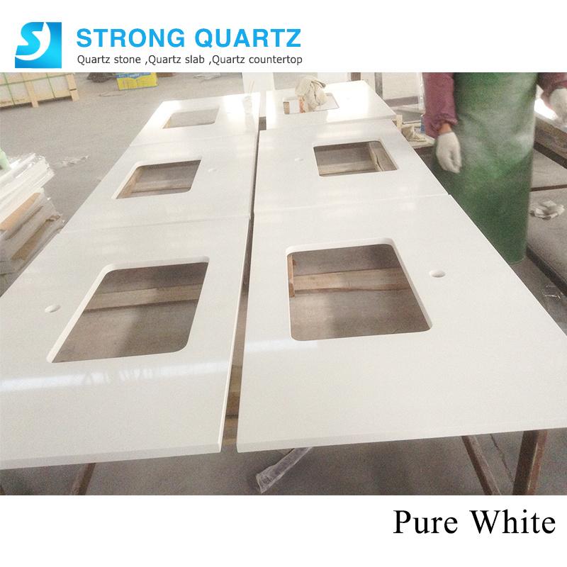 White Kitchen Quartz Stone Counter Top