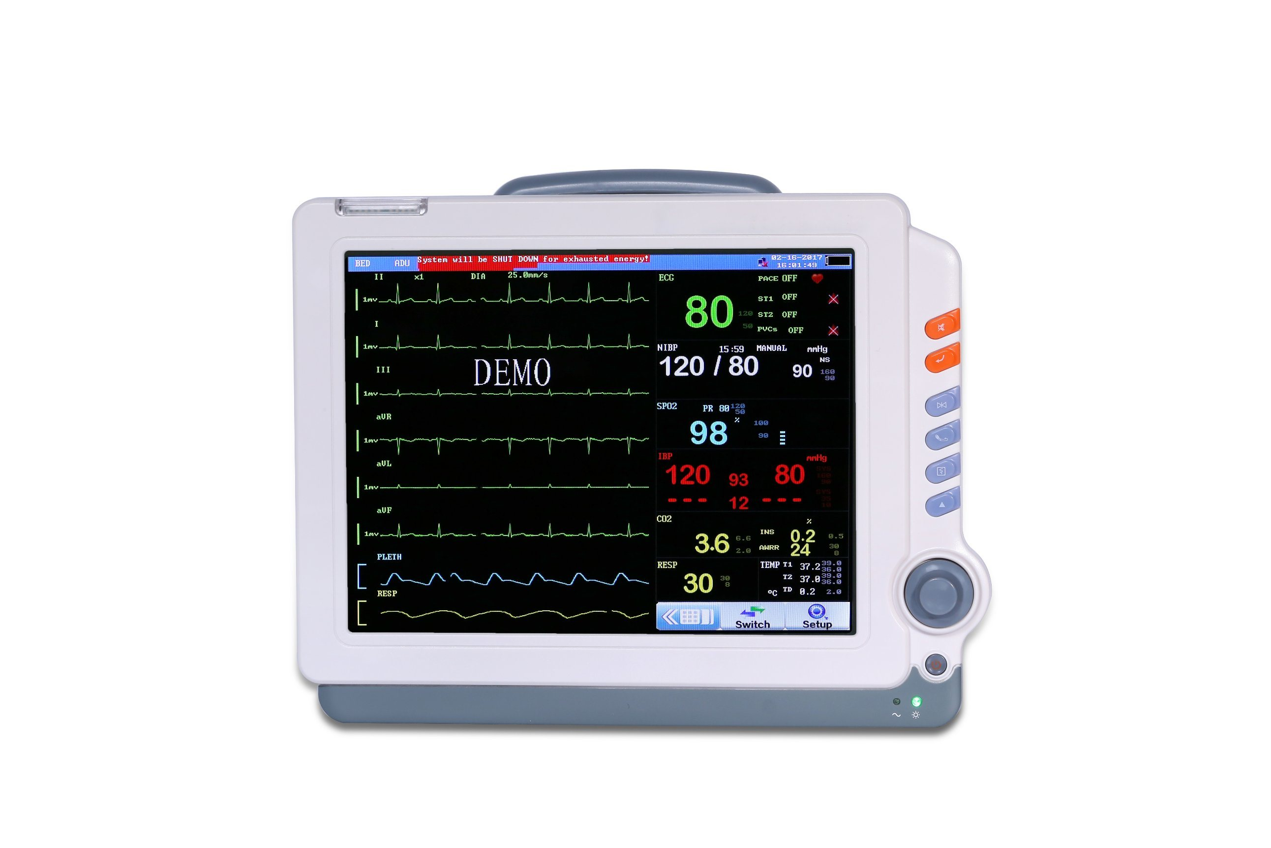 [Hot Item] Cheap Patient Medical Monitor/Physiological Monitor for Human or  Veterinary Clinic/ Hospital with Best Price - Mslmp06