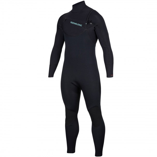 Dawn Patrol 3/2 Chest Zip Wetsuit in Black/Blue/Green pictures & photos