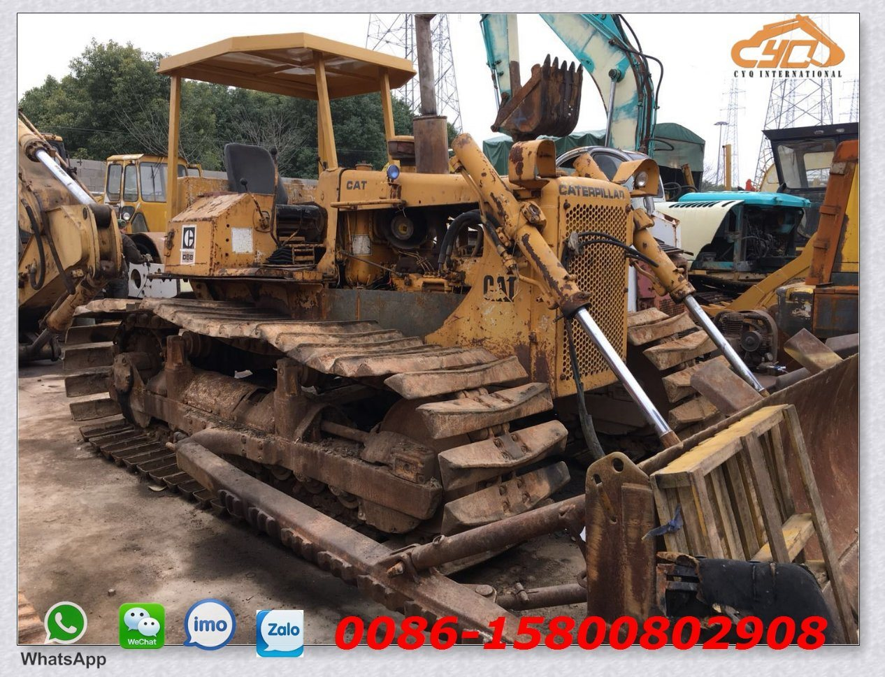 China Used Cat D5b Mini Bulldozer with Swamp Track Shoe for