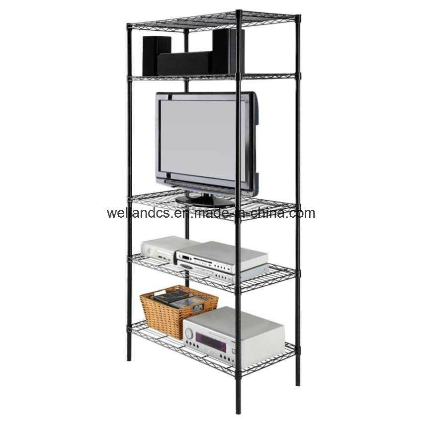China Epoxy 5 Tier Layer 120kg Steel Adjustable Wire Shelving Rack ...