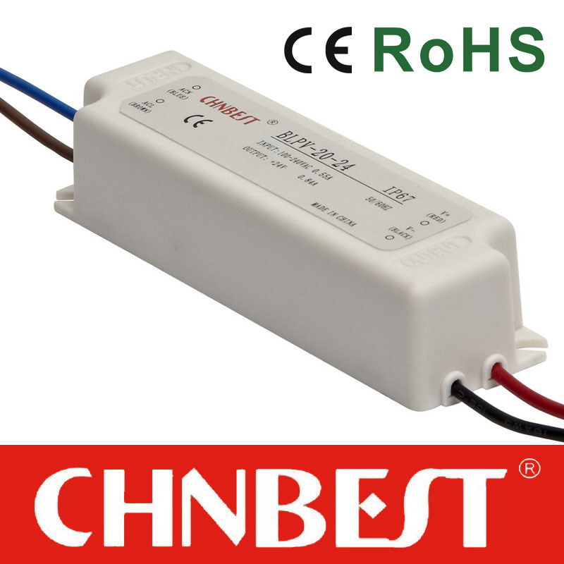 20W Waterproof LED Driver with IP67 (BLPV-20-12)