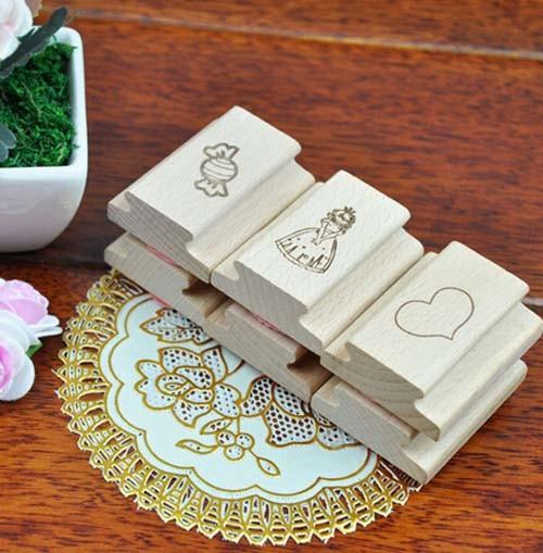 China Custom Wooden Scrapbook Stamp For Diy Kits 598 China