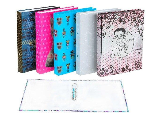 A4 Custom Printing Rigid Cardboard Paper 3-D /3-O Ring Binder