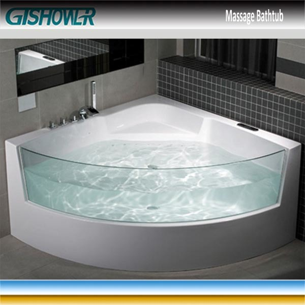 China Corner Jacuzzi Whirlpool Bathtub with Glass Window (KF-651 ...