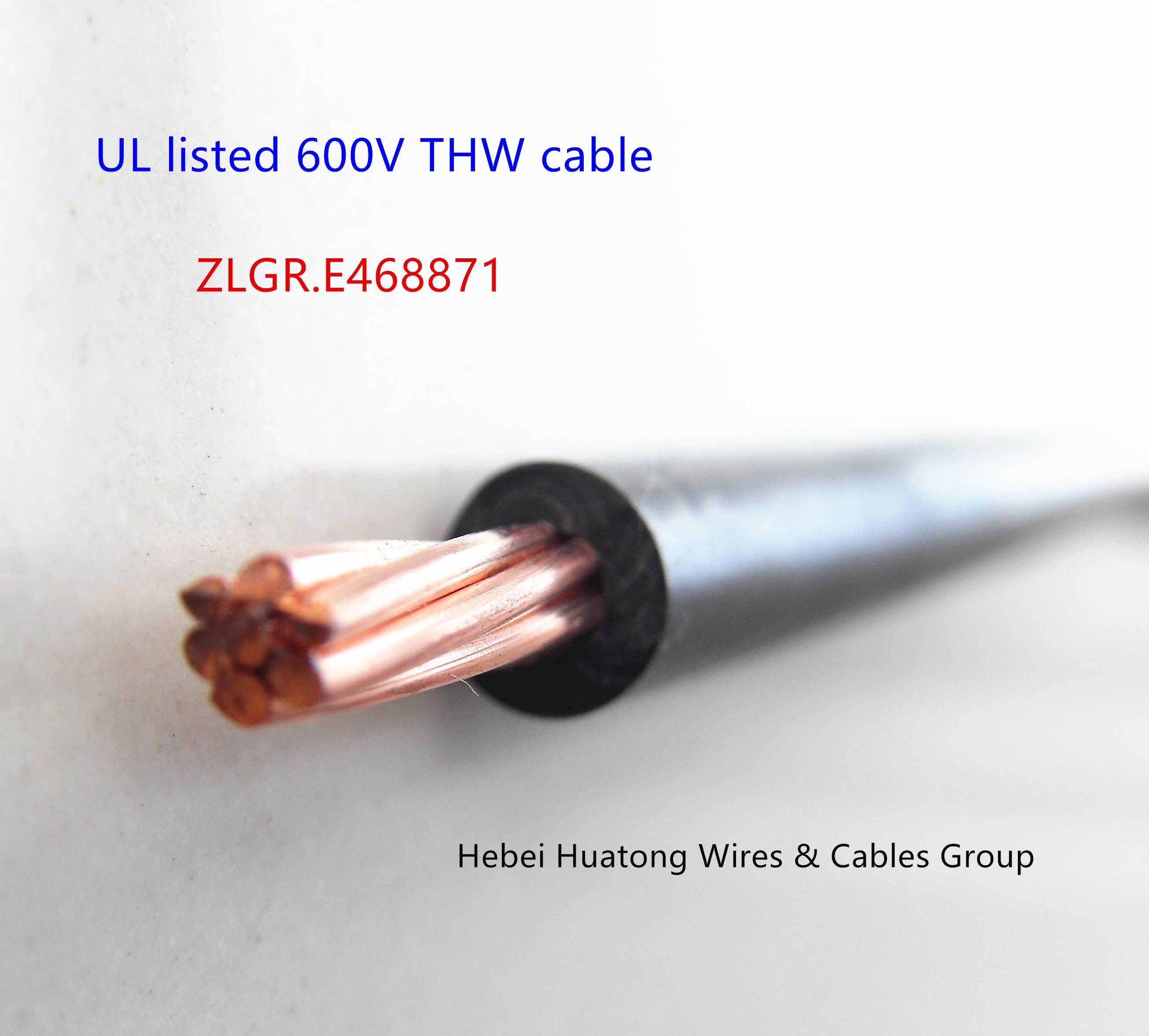 China UL Certified Electric Cable Wire 8 10 12 -2000 AWG Tw/Thw ...