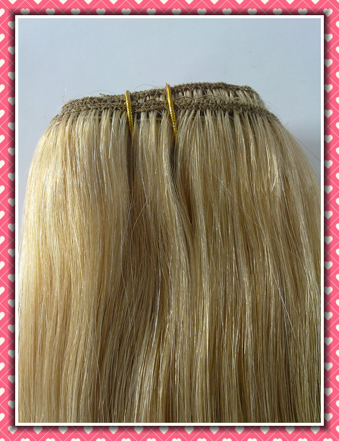 "Clip-in Hair Extensions 20"" Color P22/613# 8PCS /Set pictures & photos"