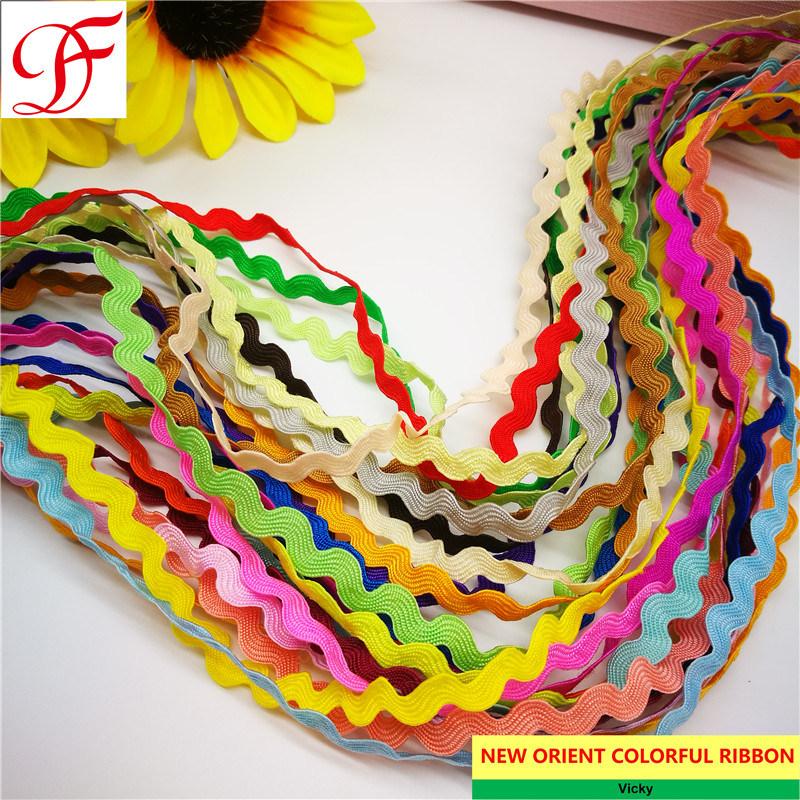 Colour /'Orange/' Cotton Cord with Organza Ribbon