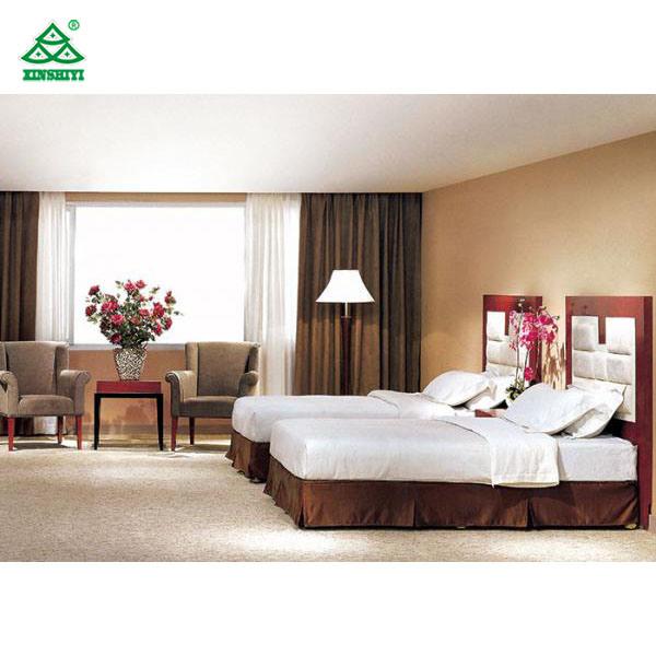 [Hot Item] Zebrano Veneer Finished Inn Black Wood Frame High End Bedroom  Furniture
