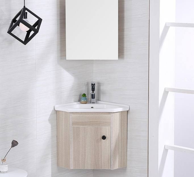 China Corner Cabinet Solid Wood Bathroom Vanity Wall Mounted Cabinet Photos Pictures Made In China Com