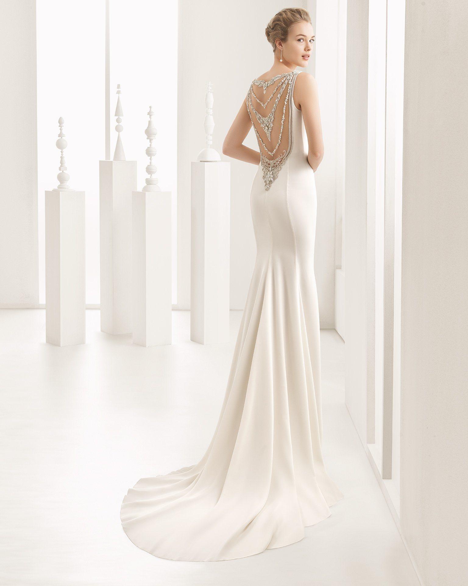 China Amelie Rocky 2018 Satin Sexy Backless Wedding Gown Mermaid