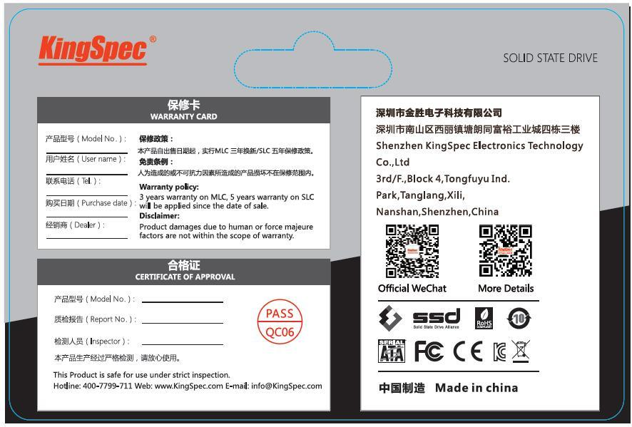 China Kingspec M  2 Nvme Pcie 120GB SSD for Laptop Photos
