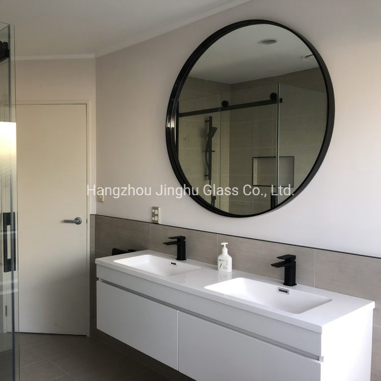 China Decorative Deep Metal Framed, Black Bathroom Mirrors
