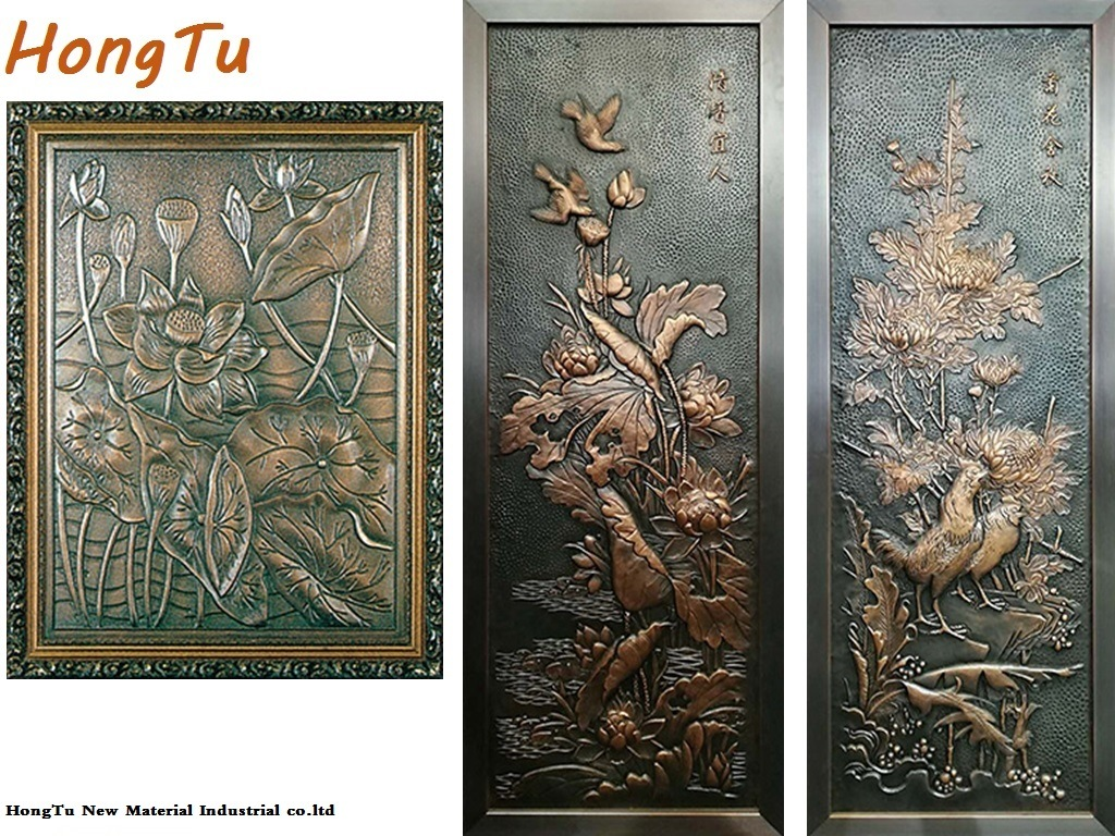 china aluminium art emboss relief factory photos pictures made in china com hongtu new material industrial co ltd