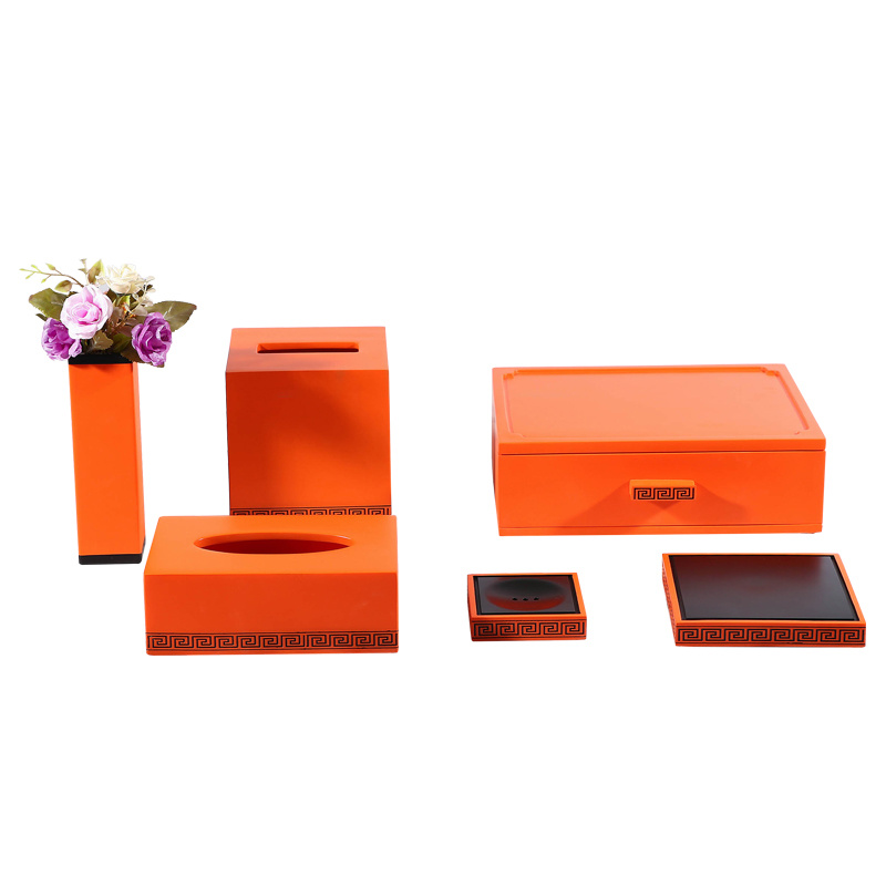 Sets Orange Resin Bath, Bathroom Accessories Orange