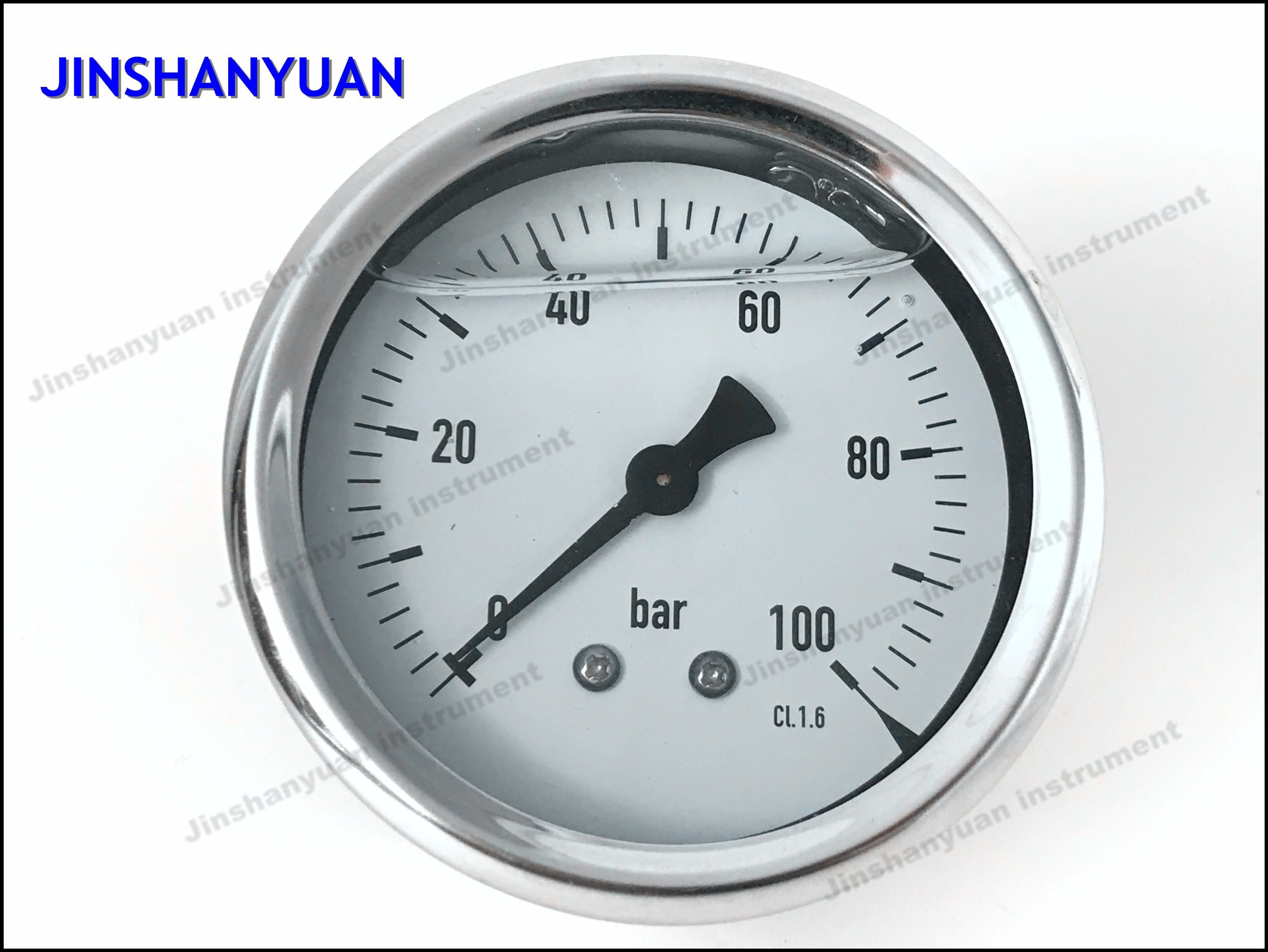 Og-014 Back Connection Pressure Gauge/Brass Thread Pressure Gauge/Oil Manometer