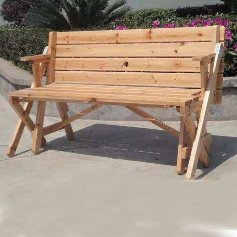 China Wood Outdoor Bench Table Combined, Wooden Bench Outdoor Table