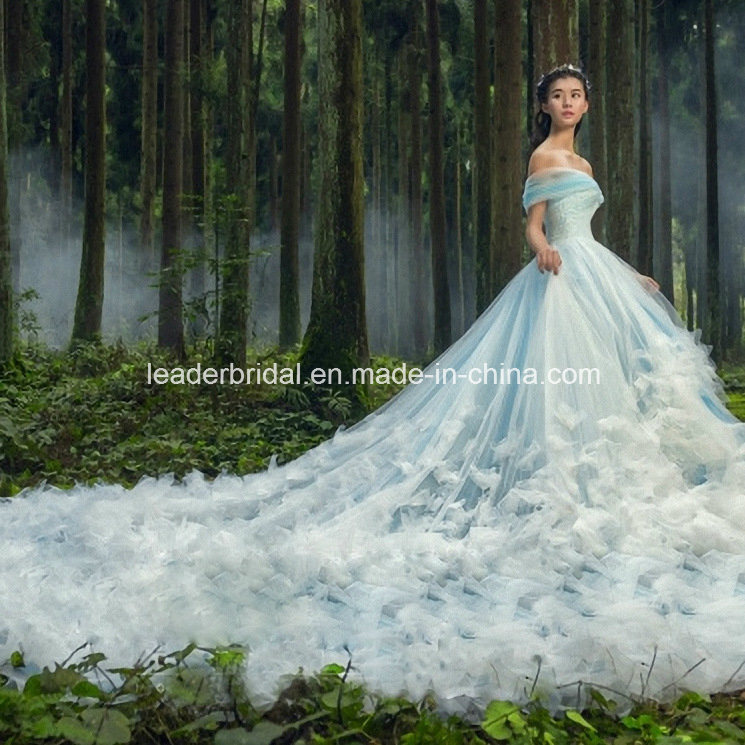 3D Flowers Tulle Wedding Bridal Dresses
