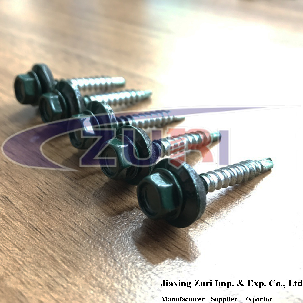 Roofing Screw 4.8X35 Ral 6005 pictures & photos