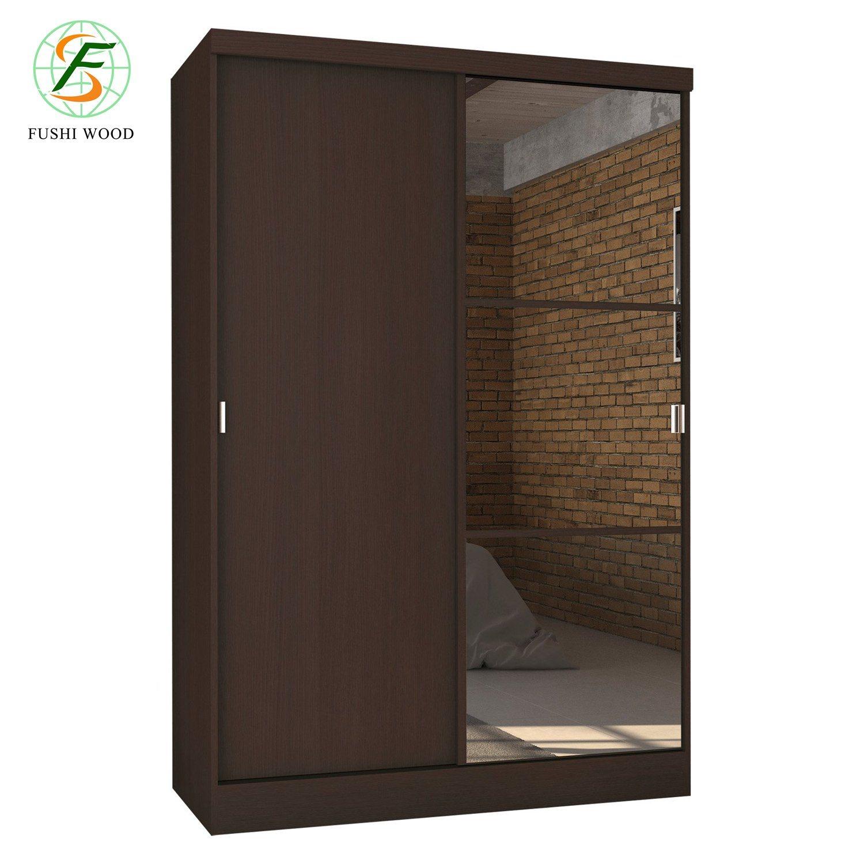 [Hot Item] Customized PVC Veneer Walk-in Closet Wardrobe with Mirror for  Bedroom Furniture