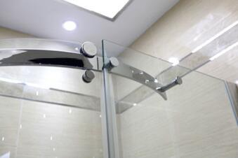 Bathroom 8mm Big Roller One Door Quadrant Shower Enclosure (BN-BRSQD90)