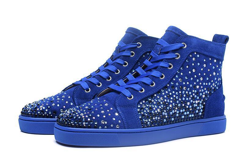 brand new 54c8d 2f027 China 3A Spikes High Top Red Bottom Pik Pik Studded Sneakers ...