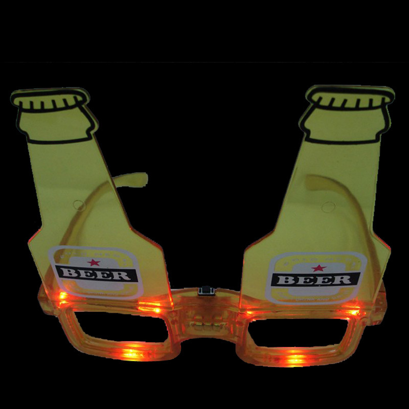 Carnival Promotional Gifts Beer Shape LED Flashing Fashion Sunglasses (QY-LS100B)
