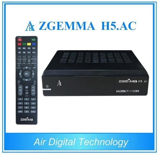 [Hot Item] for Mexico/America Digital TV Receiver Zgemma H5  AC Linux OS  Enigma2 DVB-S2+ATSC Two Tuners