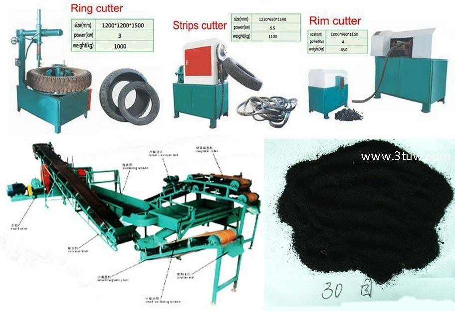 Tyre Rubber Recycling Machine High Quality