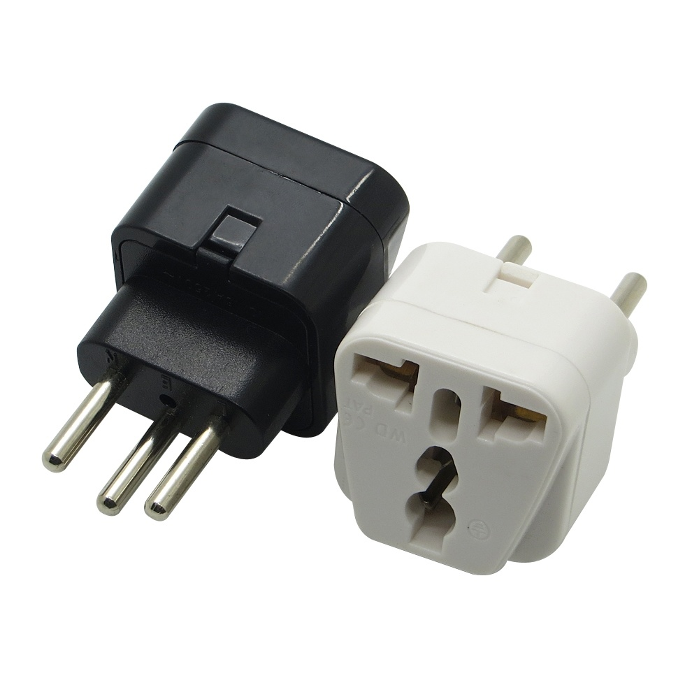 Universal Travel Adapter Electric Plugs Sockets Converter EU Au Us UK to Switzerland Travel Plug 3 Round Pin Adaptor pictures & photos