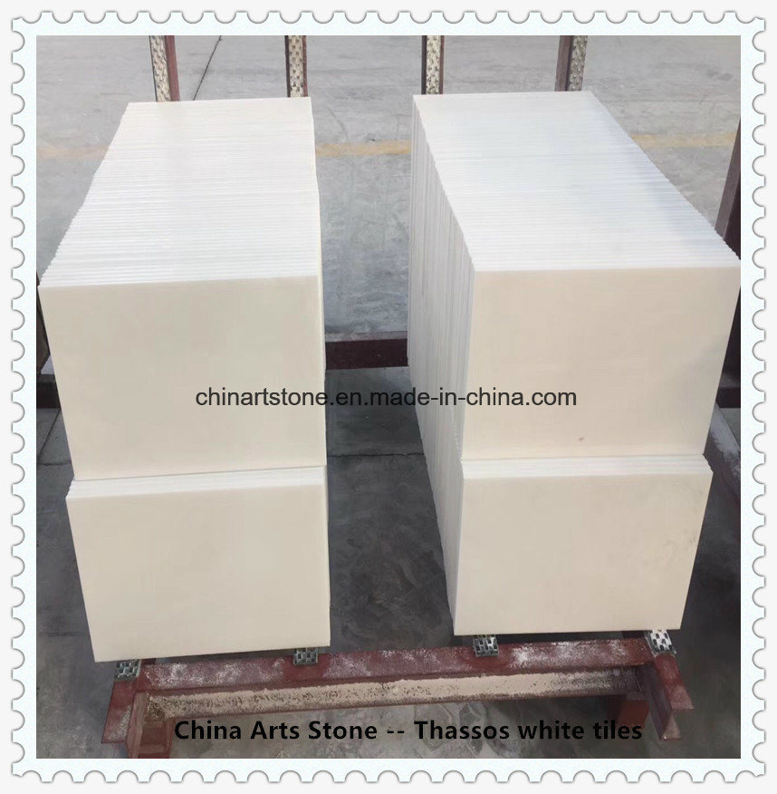 Bianco Thassos/ Crystal Pure White Nature Marble Tiles for Decoration Projects pictures & photos