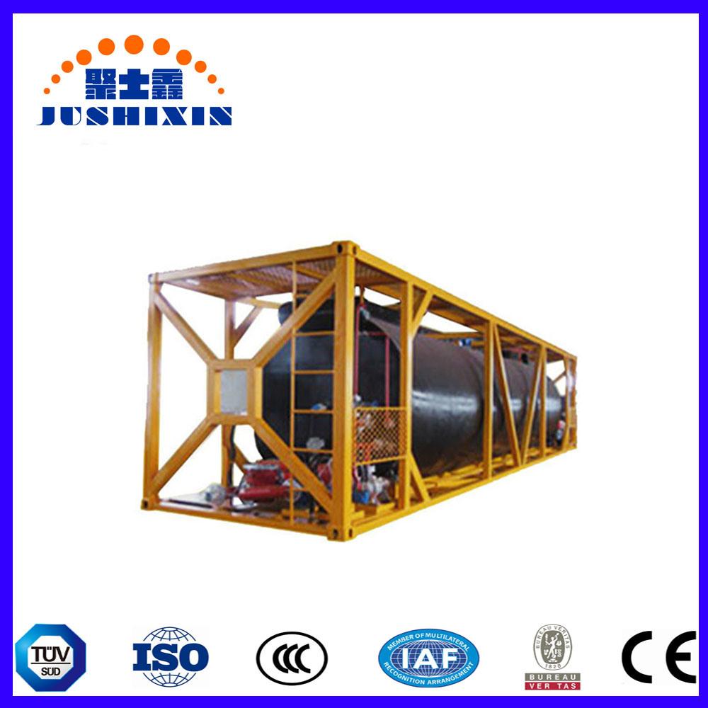 China Jsx 2019 Asphalt Liquid Bitumen Heating Storage ISO Tank Container/ Bitumen Tank
