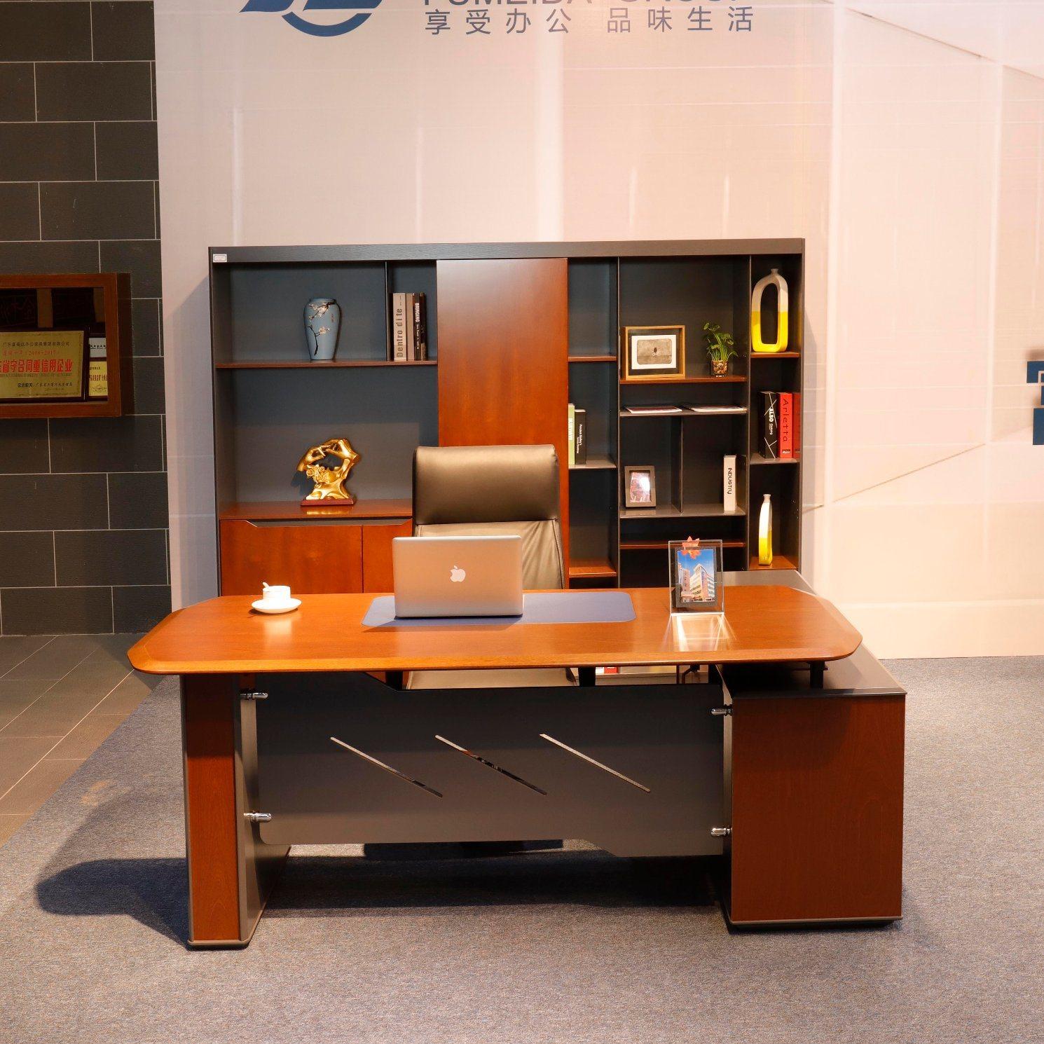 - China Fashion E1 Board Office Furniture Executive Desk With Solid