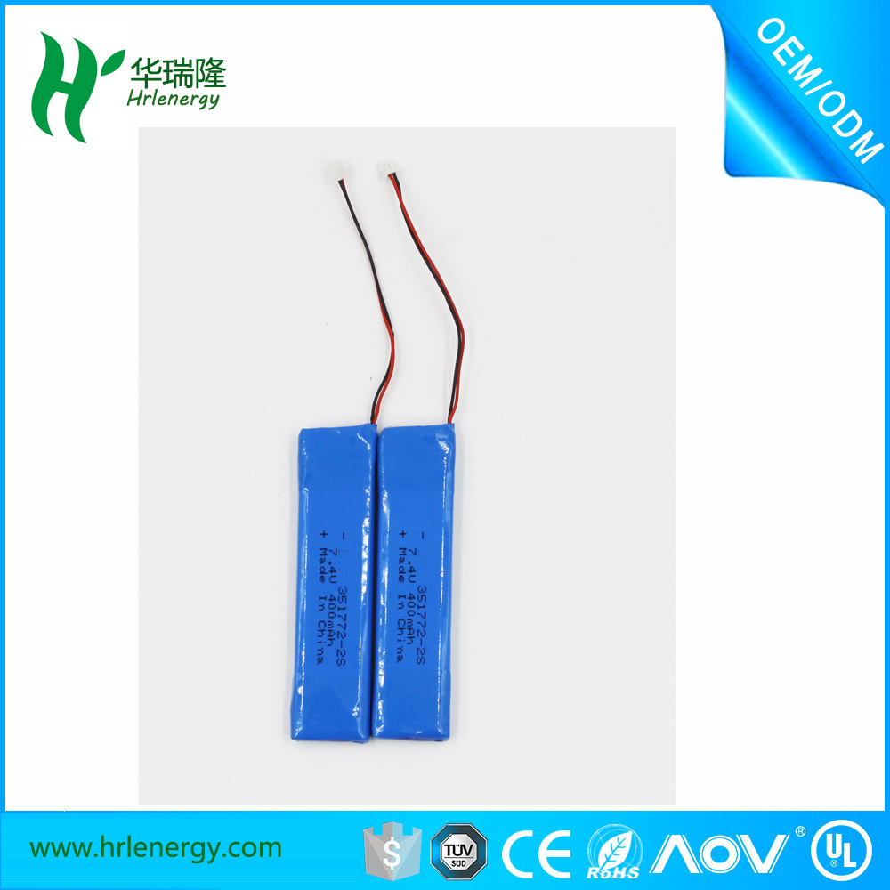 Hrl7.4V 400mAh Lithium Polymer Recharge Batteries