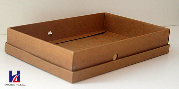 Simple Style with Ribbon and Window Brown Kraft Gift Carton Box